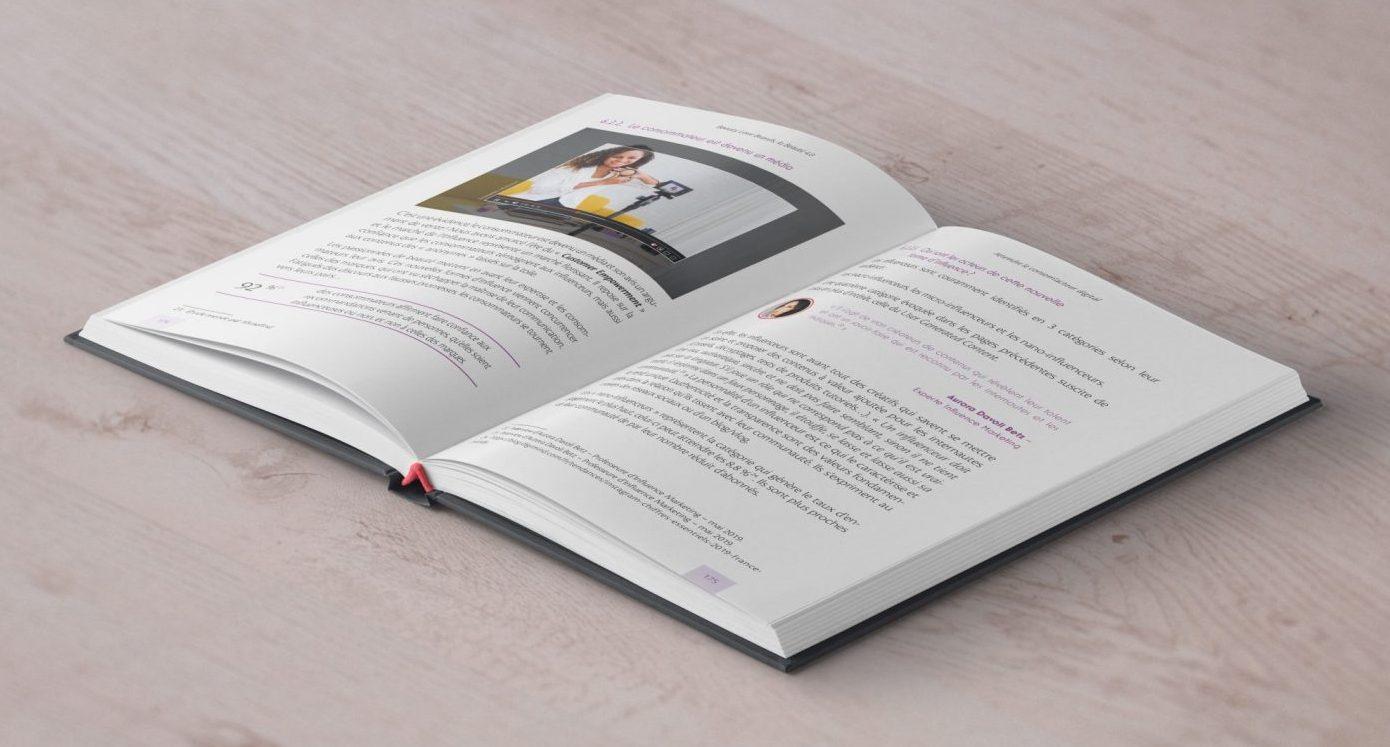 Création de maquette et mise en pages d'un ouvrage sur l'économie de la cosmétique Beauty Love Brands pour l'éditeur Michel de Maule