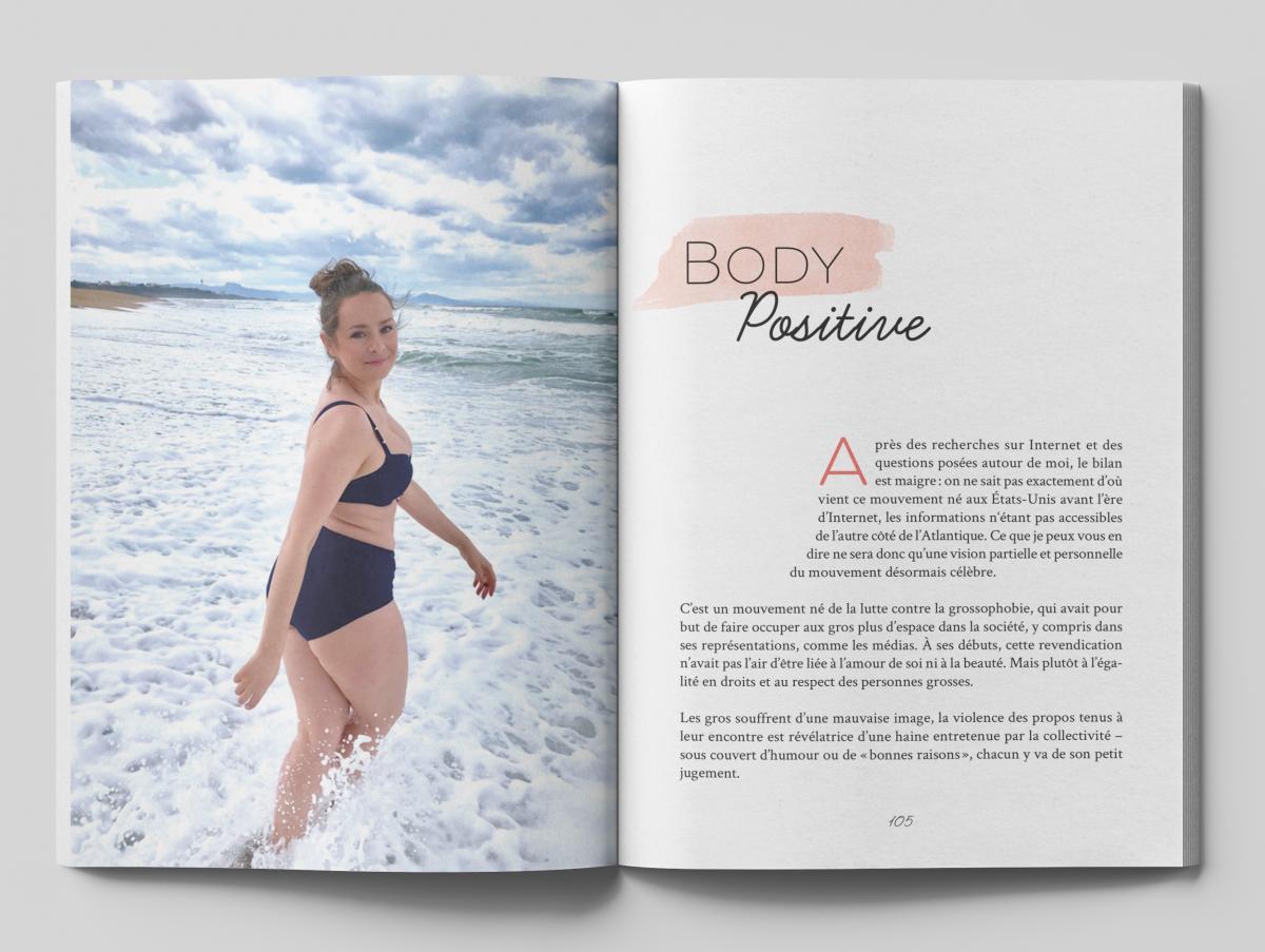 Création et mise en pages de l'ouvrage Body positive pour l'éditeur Le Courrier du livre
