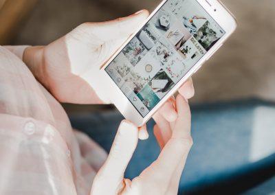 Création de visuels pour les réseaux sociaux et proposition de feed Instagram
