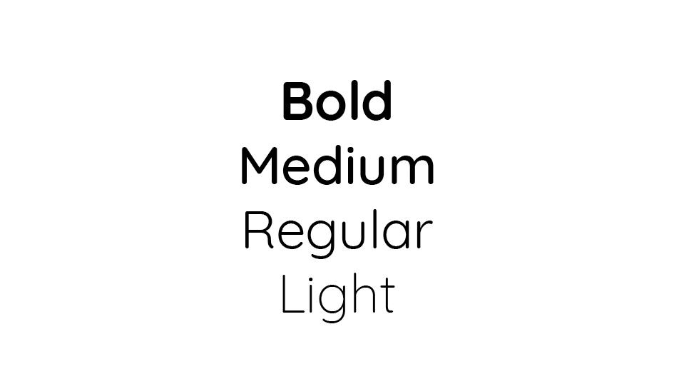 Le graphiste joue sur la graisse des typographies lorsqu'il crée une identité visuelle