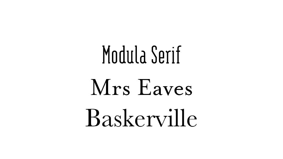 Les typographies serif connotent le sérieux et l'élégance