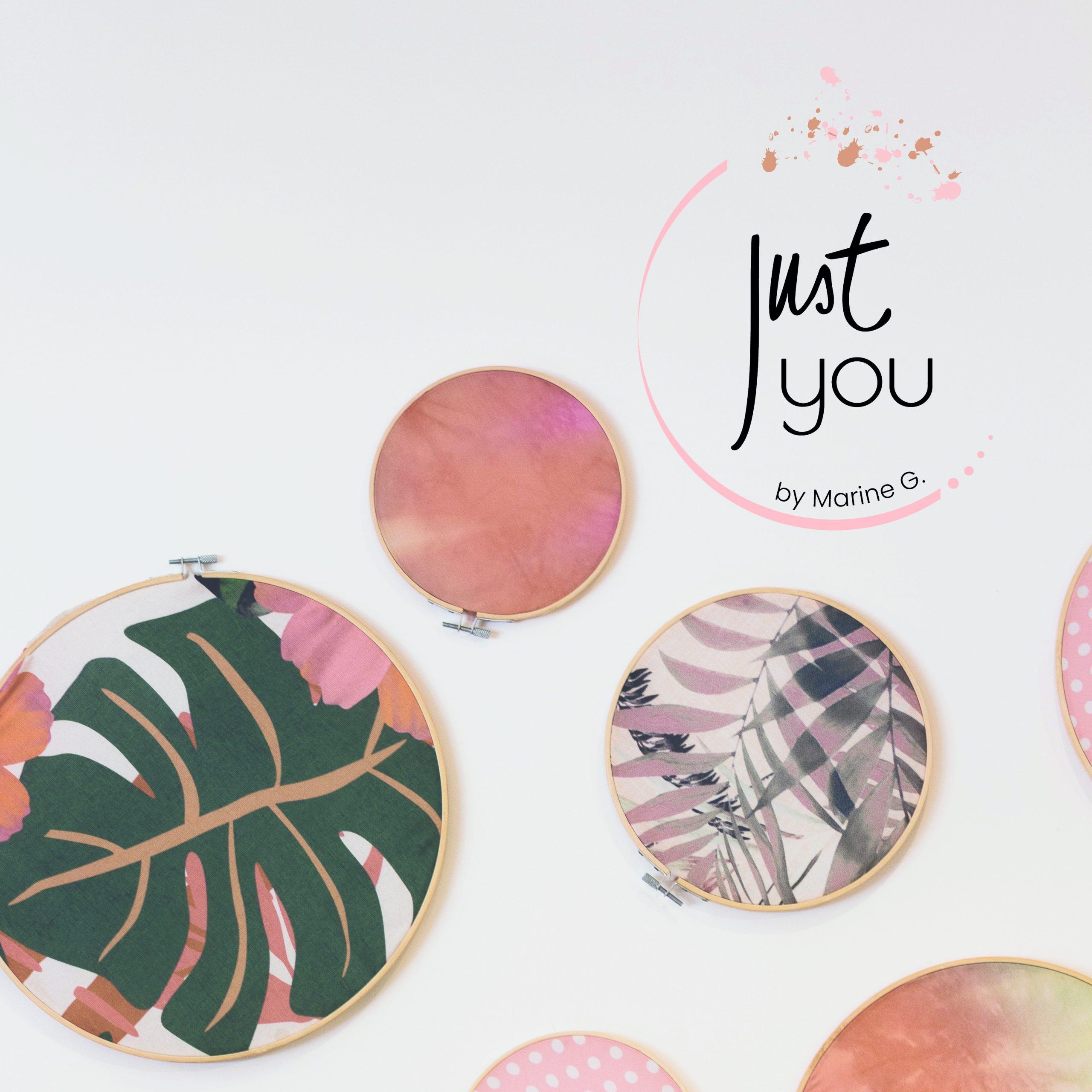 Le studio graphique citron sorbet réalise le logo de Just You by Marine G. et le met en situation