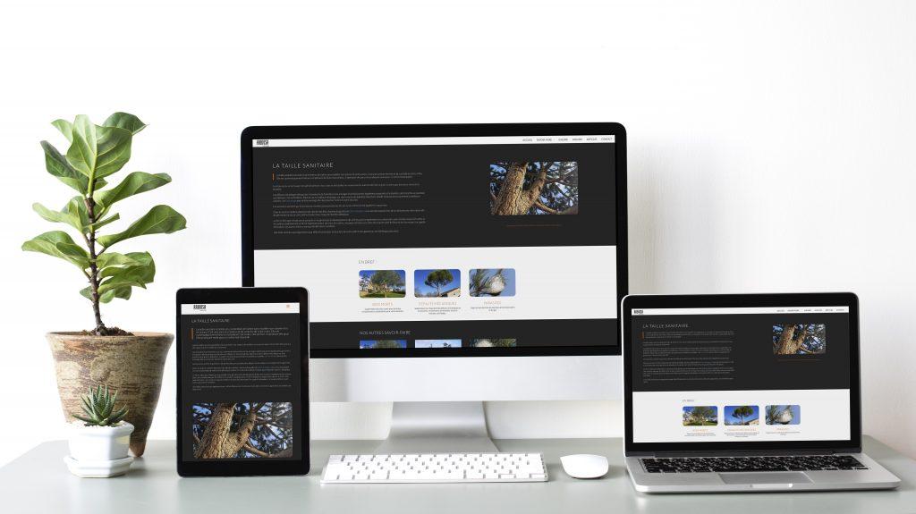 Le studio graphique citron sorbet a imaginé et créé le site internet responsive de Arbiosa