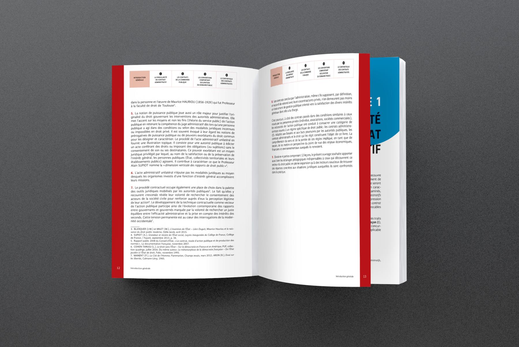 Création de maquette et mise en pages d'une collection juridique pour l'éditeur Enrick B